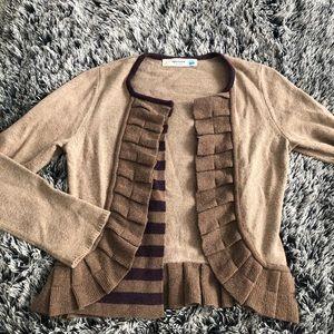 Sparrow blazer cardigan size M brown tan